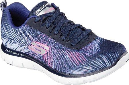 Flex 2 de Mujer Navy 0 Skechers Appeal Tropical Bree Pink Zapatillas Deporte gnF66Ax