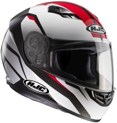 HJC Casque Moto CS 15 SEBKA MC1 Noir//Blanc//Rouge Taille M