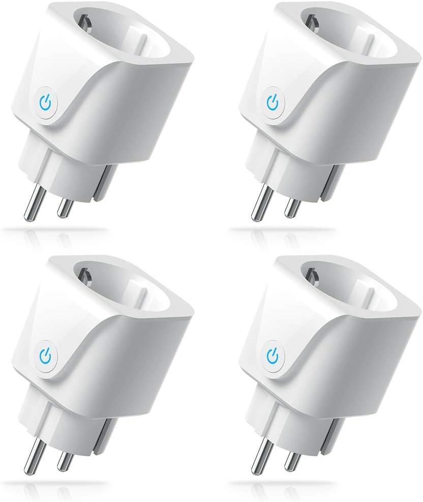 4pack WLAN Smart Steckdose Intelligente Plug Wifi Stecker fernbedienbar
