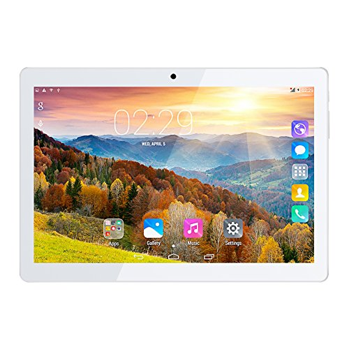 Padgene 10.1 Inch 16GB Tablets,Android 4.4.2 MTK6582 Quad Core 1.3GHz,2G / 3G GSM Dual Camera,Dual Sim Bluetooth 4.0 Tablet PC Cellphone (Rose Gold)