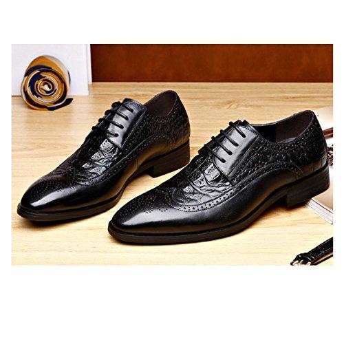 Fascia Inghilterra Abbigliamento Formale Affari Black Lavorato NIUMJ Scarpe Uomo Scarpe da Cuoio di Nuovo Alta Brock aq5Hnp0T
