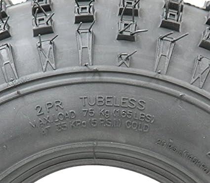Parnells 4-145/70-6 - neumático ATV neumático Quad Ruedas de Remolque 50cc 90cc 110cc Wanda 75 kgs: Amazon.es: Jardín