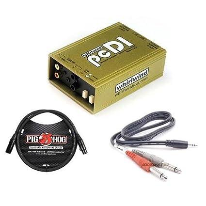 Amazon.com: Whirlwind pcDI Estéreo directo caja con RCA y ...