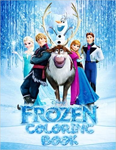 Disney Frozen Coloring Book Elsa Anna Olaf Cristoff Sven Hans Angelina Draw 9781548128739 Amazon Books