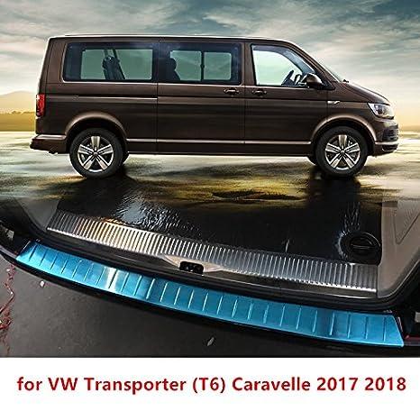 HIGH FLYING Protector para Maletero Trasero de Acero Inoxidable de Alto volteo 2 Piezas de Accesorios para Volkswagen Transporter (T6) Caravelle 2017 2018.