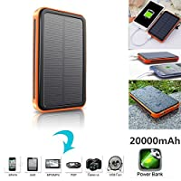 20000mAh Solar Battery Portable USB Char...