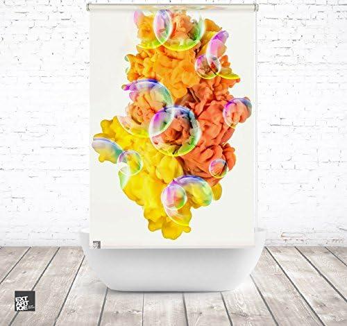 EXTARTIQE extar tiqe Diseño Ducha 100 cm Textil Yellow Bubble Smoke baño Enrollable para bañera o Ducha: Amazon.es: Juguetes y juegos