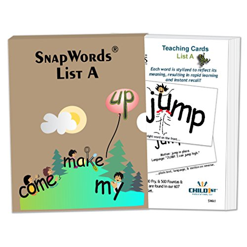 Child1st HB-SWA1-A1 Snap Words Teaching Cards, List A, Grade: 9 to Kindergarten