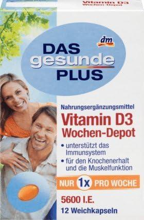 DAS gesunde PLUS Vitamin D3 Wochen-Depot, 1 x 12 St Nahrungsergänzungsmittel