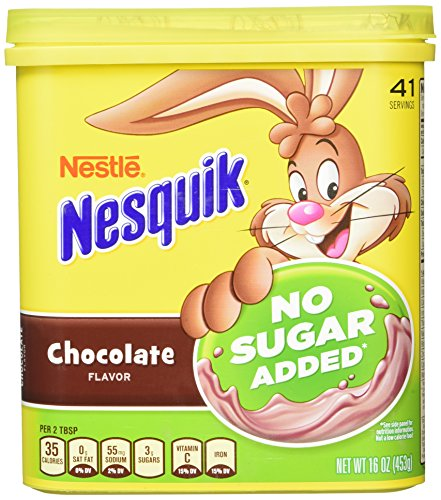 Nesquik Chocolate Powder, No Sugar Added, 16-Ounce Unit (Pack Of