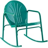 Crosley Griffith Metal Rocking Chair in Turquoise Gloss (Set of 2)