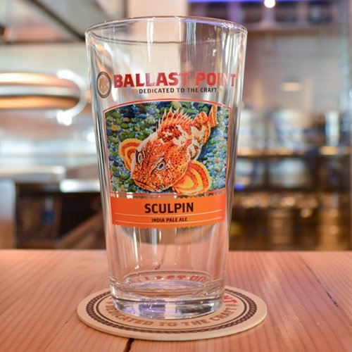 Ballast Point Brewing Company - Sculpin IPA Pint Glass - Set of 4