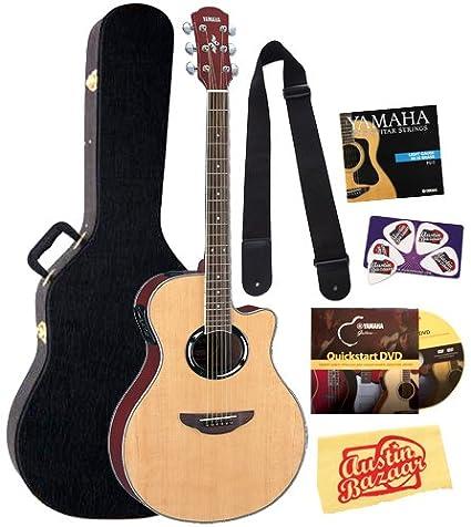 Amazon.com: Yamaha apx500nt Bundle para guitarra eléctrica ...