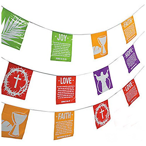 Holy Week Plastic Pennant Banner Teacher Resources Classroom Decorations