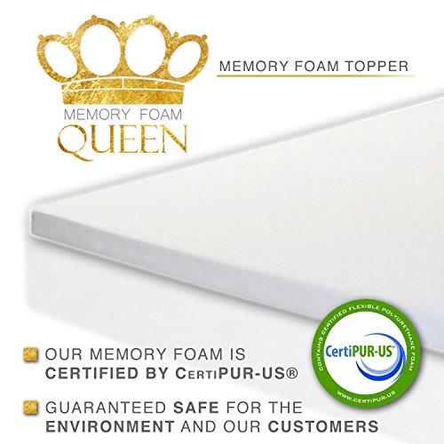 Memory Foam Topper Queen 2 Inch Thick Ultra Premium Memory Foam Mattress Topper Bedroom Store