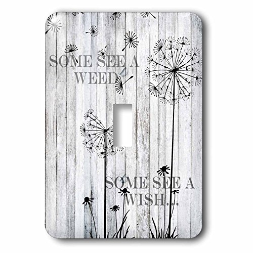Wish Light Switch Covers (3dRose (lsp_254263_1) Single Toggle Switch (1) See a Weed Wish Quotes Saying Phrases Dandelion)