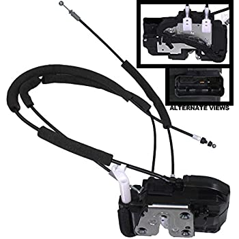 Image of Power Door Lock APDTY 048412 Door Latch With Lock Unlock Actuator Motor & Cables Fits Front Right On 2004-2014 Nissan Titan Crew Cab