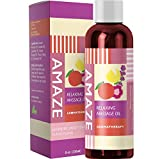 Product review for Massage Therapy Oil for Relaxing Detox Spa Massage Joint and Muscle Pain Relief Natural Skin Care with Aphrodisiacs Pure Sweet Almond Oil Lavender and Geranium Essential Oil Antioxidant Moisturizer