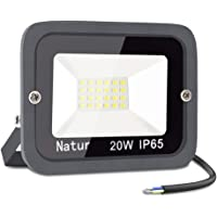 20W LED Foco Exterior,bapro 3000k Alto Brillo Proyector Led,Impermeable IP65 Floodlight Led Iluminación para Patio…