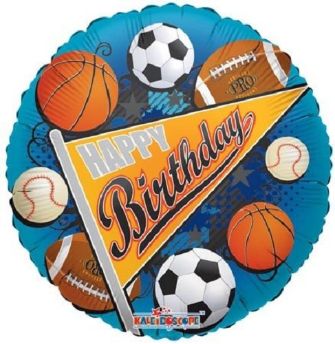 Seal Pennant - Kaleidoscope Happy Birthday Sports Pennant Foil Mylar Balloon, 5 Piece