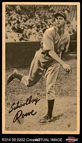1937 Goudey Wide Pen THR Schoolboy Rowe Detroit Tigers (Baseball Card) (Throwing/Creamy Paperstock/No USA on Bottom Right Border) Dean's Cards 2 - GOOD Tigers