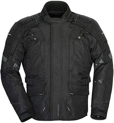 Tourmaster Transition Series 4 Men's Textile Motorcycle Touring Jacket (Black, (Adventure Textile Jacket)