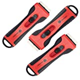 ORIENTOOLS Scraper Razor Blades Mini Plastic Retractable Scraper Razor Blades with 5 Blades Window Scraper for Scraping Labels and Decals from Glass, Windshields (3-Pack)