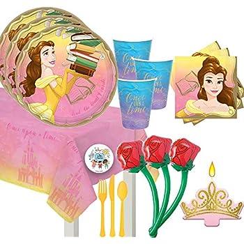 Amazon.com: Disney Bella y la Bestia Fiesta Platos De Postre ...