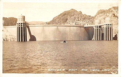 Boulder Dam Nevada Arizona Mead Lake Frasher Real Photo Antique Postcard J75208