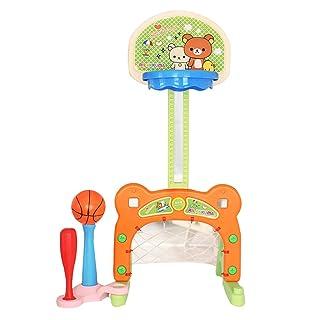 Basket Cesto bambini Scaffale sollevabile per uso domestico Giocattoli per asilo nido per uso esterno Cestino per tiro indoor Invia calcio/pallacanestro / baseball Sport e giochi all'aperto