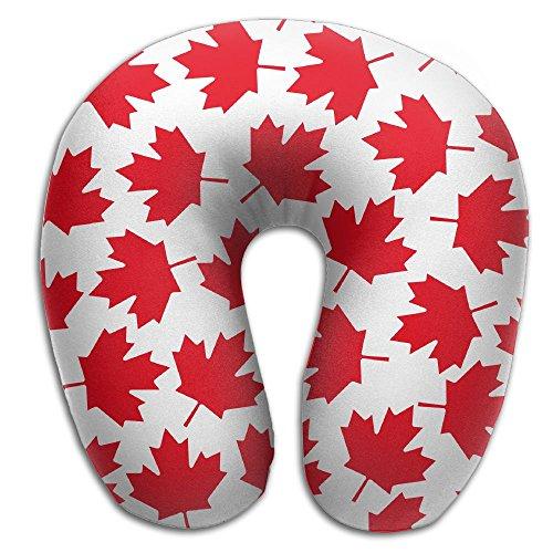 (SARA NELL Memory Foam Neck Pillow Toronto Red Maple Leaf U-Shape Travel Pillow Ergonomic Contoured Design Washable Cover For Airplane Train Car Bus Office)