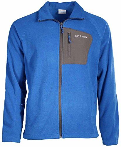 Columbia Men's Fleece Falls Full Zip Sweater-Blue-Large