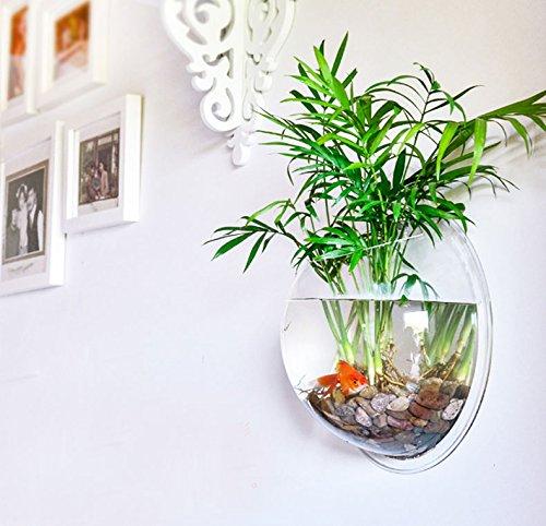 FU-GLOBAL-Wall-Fish-Tank-Arylic-Wall-Aquarium-1-Gallon-Fish-Bowl-115-Inch-Home-Decoration-Pot