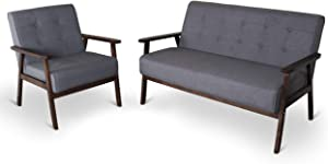 Mid-Century Retro Modern Living Room Sofa Set with Loveseat and Seating Sofa Chair, Couch and Lounge Chairs
