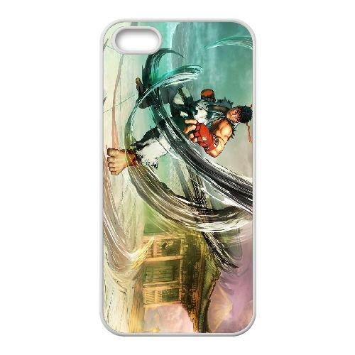Street Fighter V 10 coque iPhone 5 5s cellulaire cas coque de téléphone cas blanche couverture de téléphone portable EEECBCAAN02738