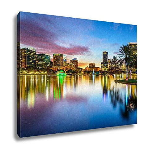 Orlando Painting - Ashley Canvas Orlando Florida Skyline Wall Art Decoration Picture Painting Photo Photograph Poster Artworks, 20x25