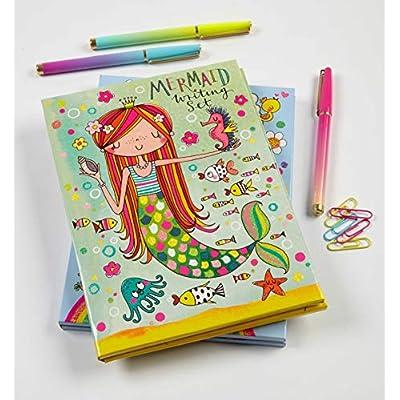 Jewelkeeper Rachel Ellen Princess Mermaid Design Writing Kit, Girls Stationery Paper Letter Set, Stickers, Envelope Seals: Toys & Games