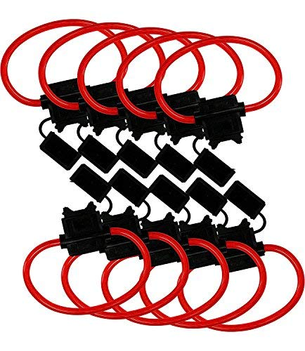 Fuse Holder Line (Yohii 16 Gauge Blade Type In-Line ATC Fuse Holder - Pack of 10)