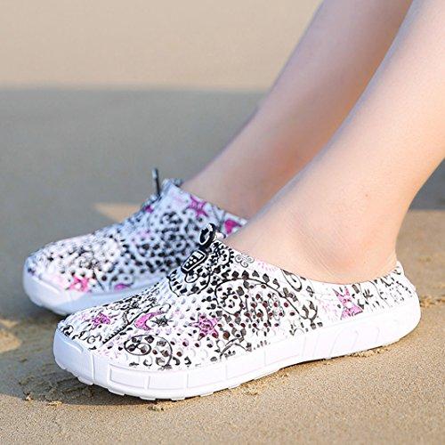 Femmes Chaussons Jardin Plastique Chaussures Mules Piscine Noir Plage Sabots Suadeex Sandales Amants De Pantoufles Respirant Fille D'été wZTHnq