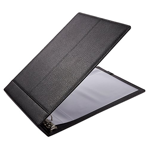 Check Binder - 3-On-A-Page Business Checkbook Holder with 7 Rings - 600 Checks Capacity - Perfect for Storing and Protecting Copy Checks - Black, 14.2 x 2 x 9.9 Inches - Executive Checkbook Cover
