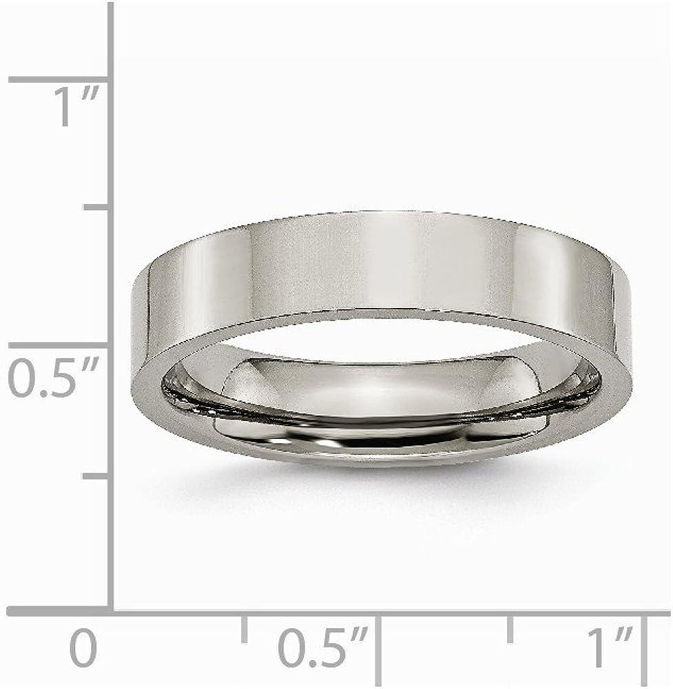 Brilliant Bijou Titanium Flat 5mm Polished Band