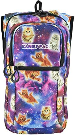 KANDYPACK Rave Hydration Pack Backpack with Water Bladder Galaxy Cat