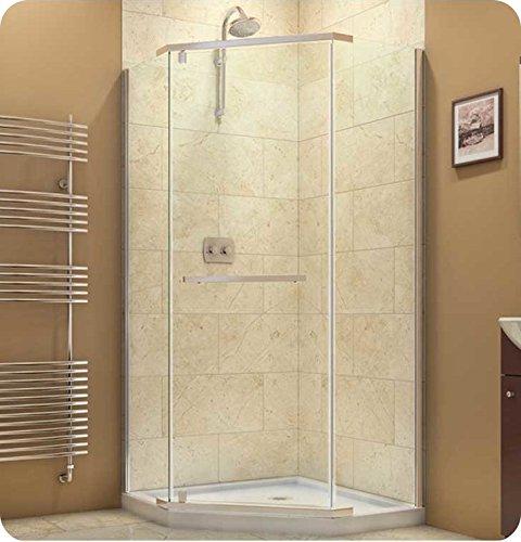 DreamLine SHEN-2134340-04 Prism 34 1/8 in. D x 34 1/8 in. W, Frameless Pivot Shower Enclosure, 3/8