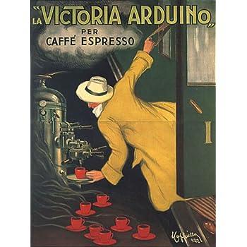 VICTORIA ARDUINO CAFEE COFFEE ESPRESSO MACHINE TRAIN ITALIA ITALY ITALIAN VINTAGE POSTER REPRO
