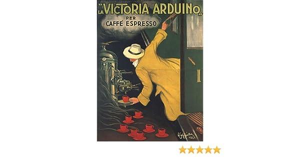 Amazon.com: VICTORIA ARDUINO CAFEE COFFEE ESPRESSO MACHINE TRAIN ITALIA ITALY ITALIAN VINTAGE POSTER REPRO: Prints: Posters & Prints