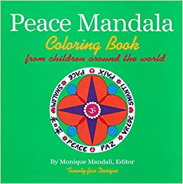 amazoncom peace mandala coloring book 9781585920617 monique mandali books