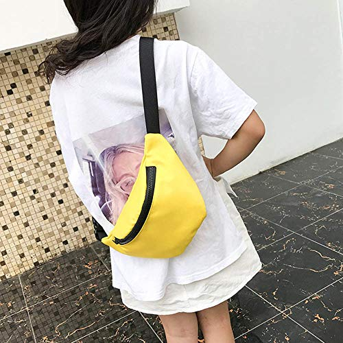 Fashion Children's Bag Waist Bag Chest Bag,Outsta Coin Purse Snack Pack Zipper Fanny Classic Daypack Travel (Yellow) by Outsta Bags (Image #4)