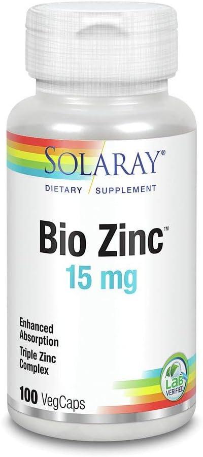 Bio Zinc 15mg Solaray 100 VegCaps