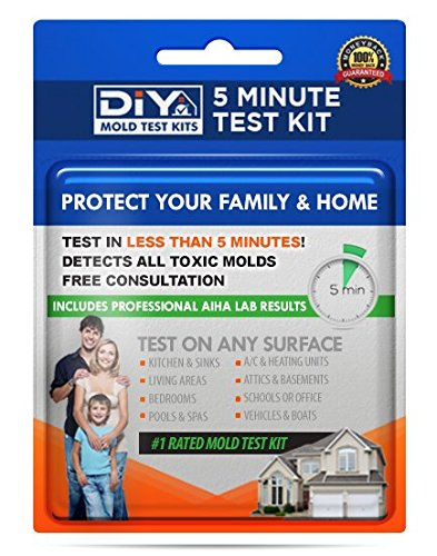 (DIY Mold Test Kits - Five Minute Home Mold Testing Kit - Certified Lab Results Included)