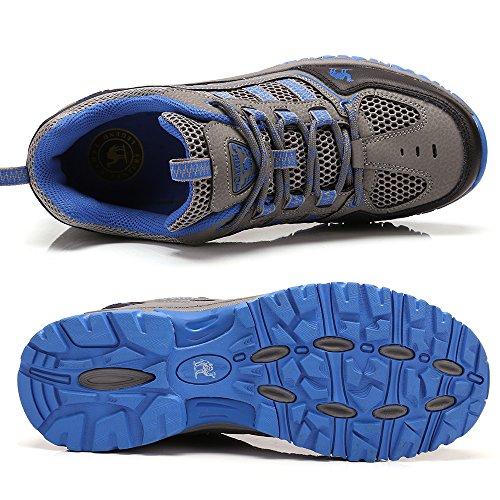 Gimnasio Escalada Uso Respirables para Shoe Entrenadores Diario Senderismo Walking Zapatos Unisex Junior Senderismo Zapatillas Azul de Viaje Running Causal 6FpvH7wq